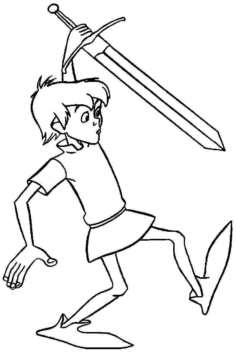 The Sword In The Stone King Arthur Coloring Pages 4