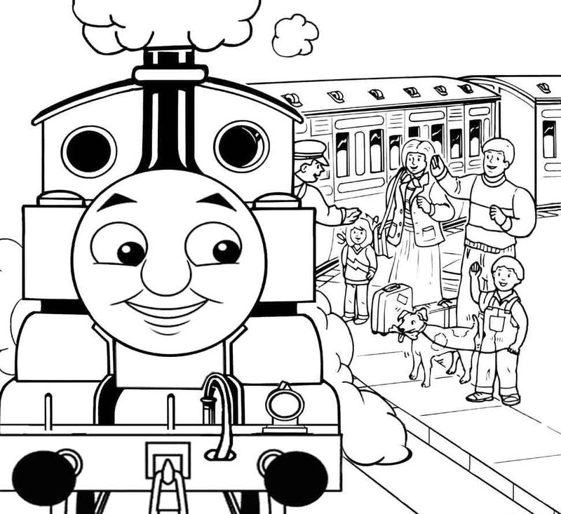 The Train Lower Passenger Coloring Pages