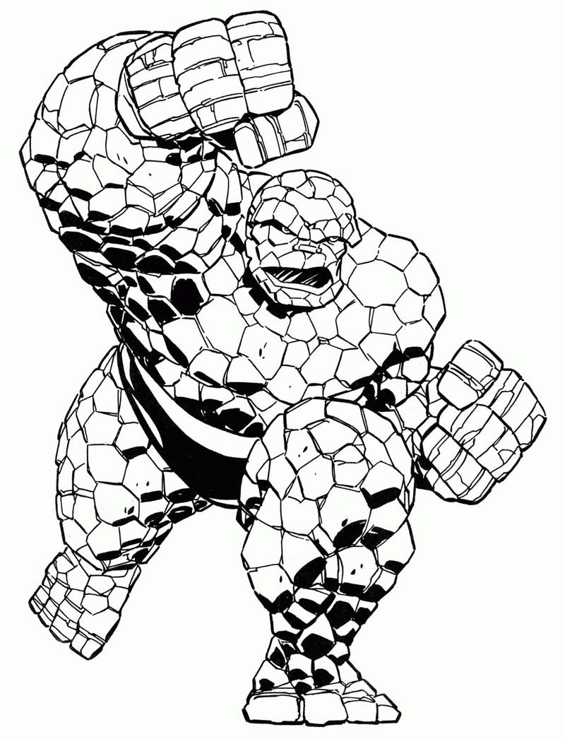 Thing Marvel Coloring Pages 001