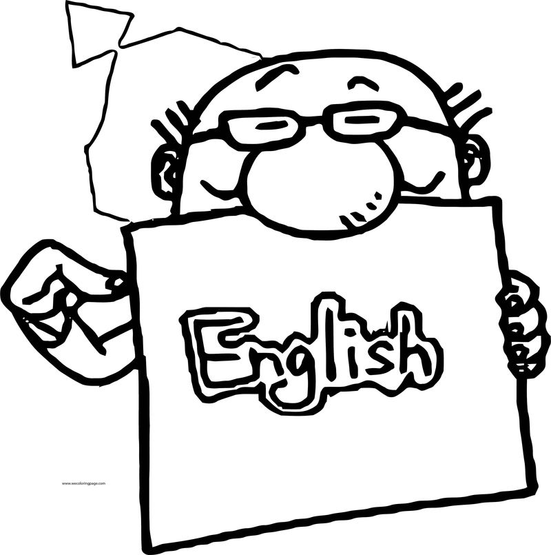This English Teacher Man Coloring Page