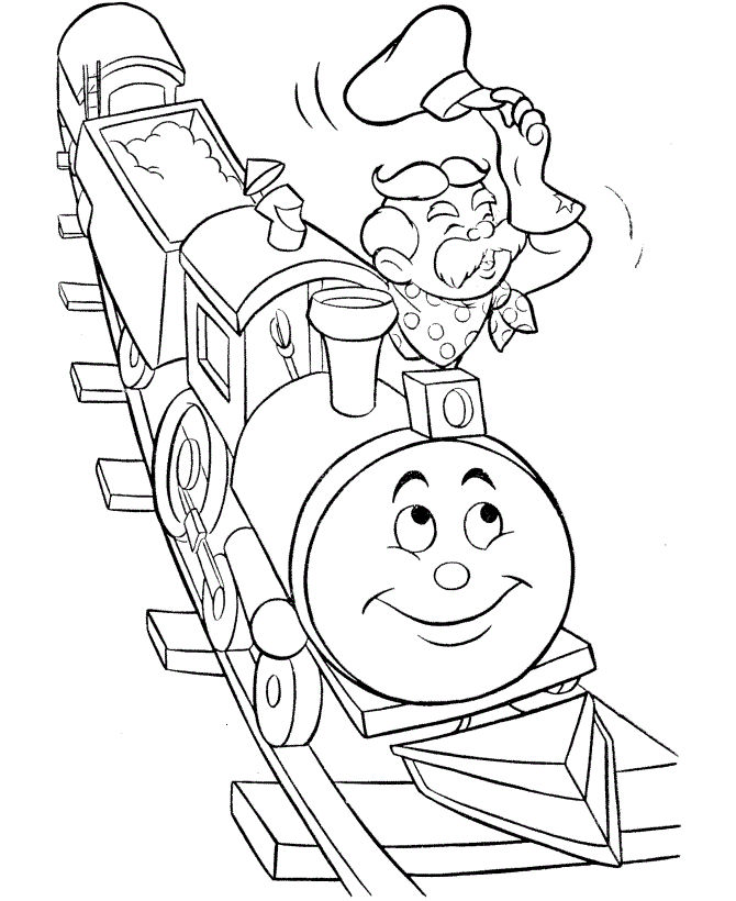 Thomas Train Coloring Page