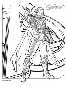 Thor avengers coloring pages