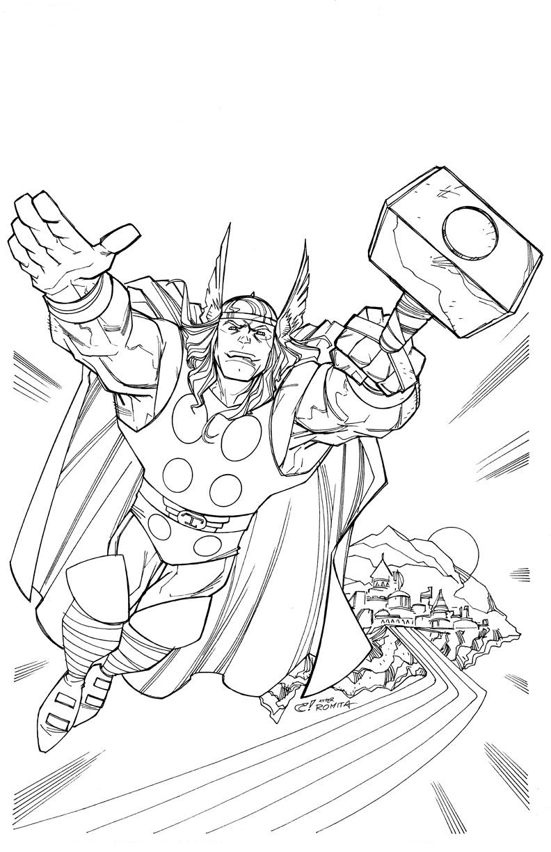 Thor Coloring Pages Kids