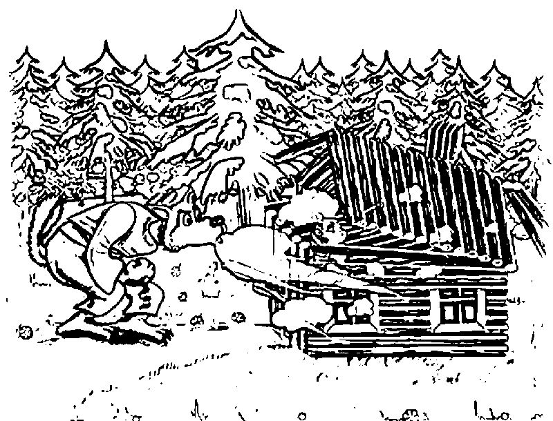 Three Little Pigs Wolf Blow House Coloring Page