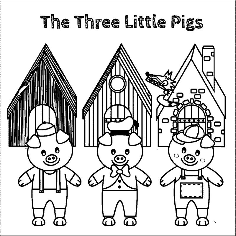Three Little Pigs Worksheets Coloring