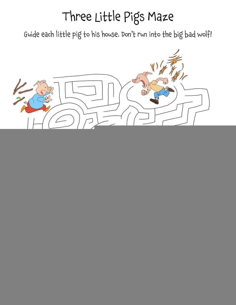 Three Little Pigs Worksheets Kindergarten
