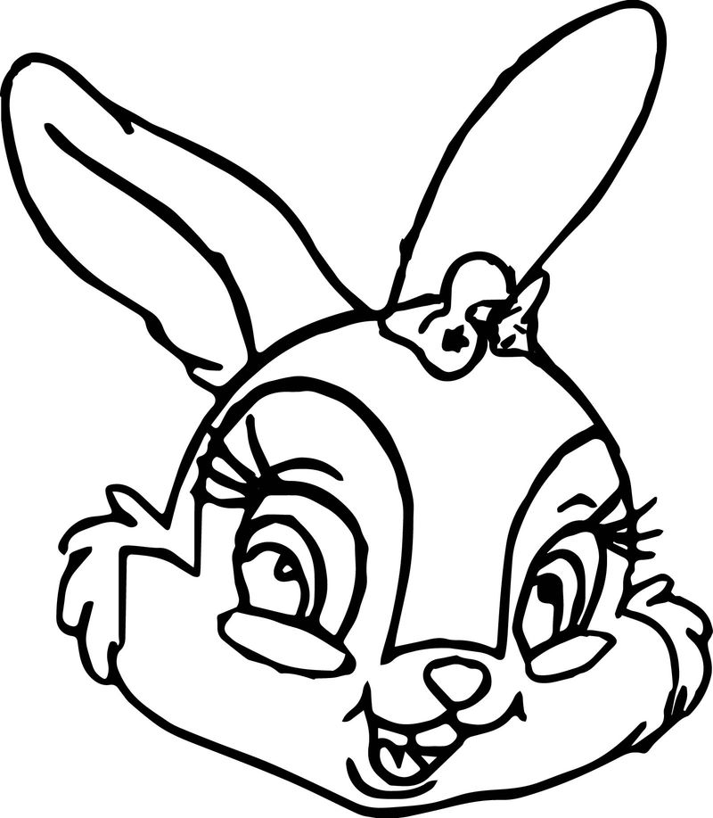 Thumper Thumpers Sisters And Miss Bunny Face Coloring Pages