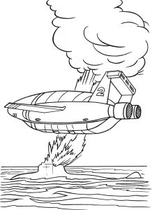 Thunderbirds Are Go Crash Coloring Sheet