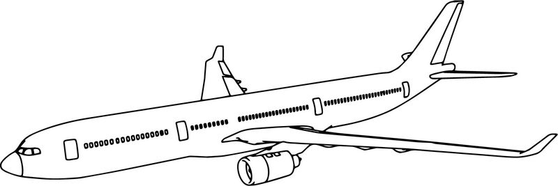Thy Airbus A330 Plane Coloring Page