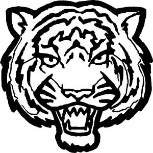 Tiger face big coloring page