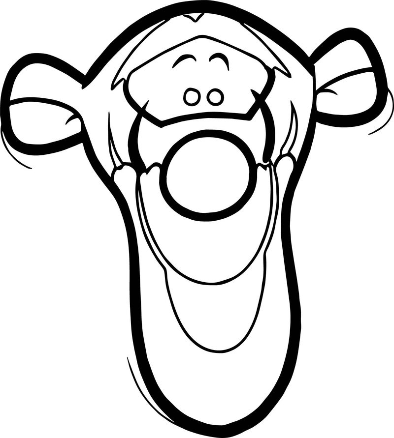 Tigger Easy Face Coloring Page