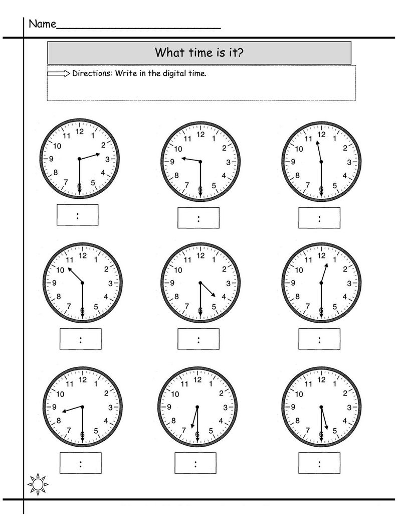 Time Elapsed Worksheet Printable
