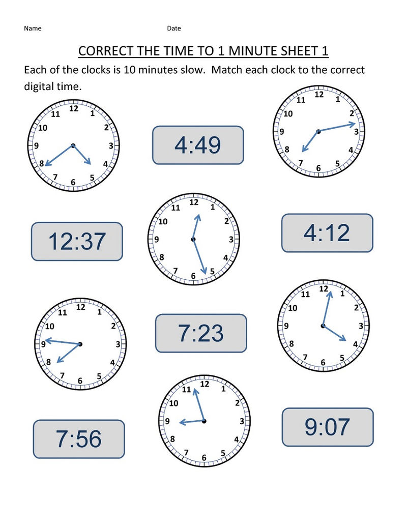 Time Elapsed Worksheets Dates