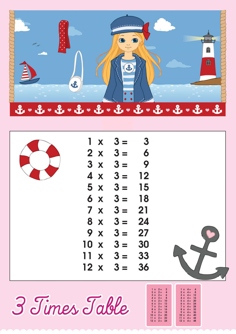 Time Table Chart For Girls