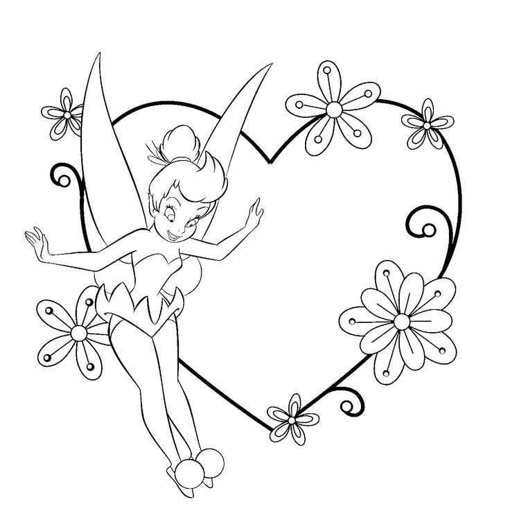 Tink Valentines Disney Coloring Pages