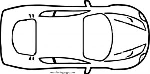 Top view sports car coloring page