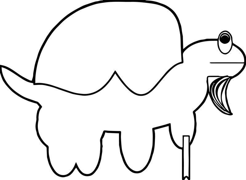 Tortoise Turtle Frog Style Coloring Page