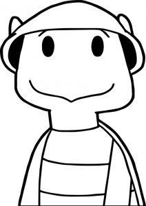 Tortoise turtle hat coloring page