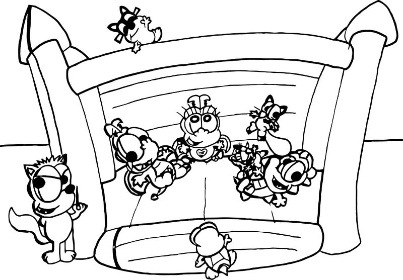 Tortoise Turtle Jumping Coloring Page