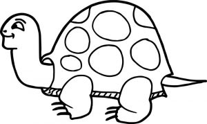 Tortoise turtle smiles coloring page