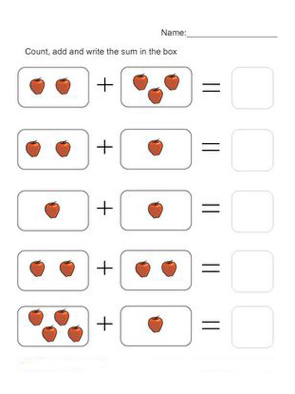 Touch Math Addition Worksheets For Kindergarten 001 ...