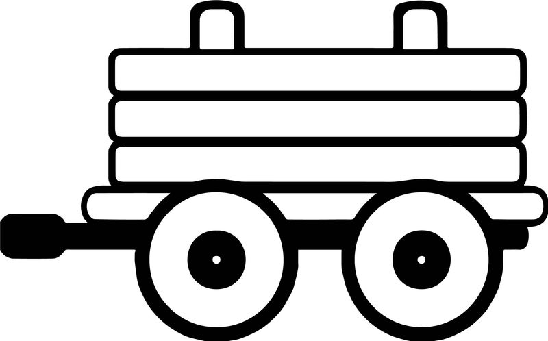 Toy Carrying Train Coloring