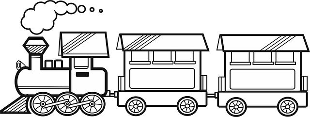 Toy Train Coloring Pages For Boys