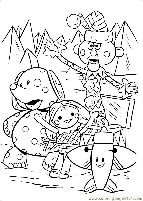 Toys In Rudolph Cartoon Coloring Page