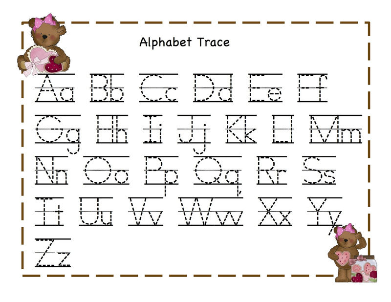 Trace Alphabet Letters Teddy 001