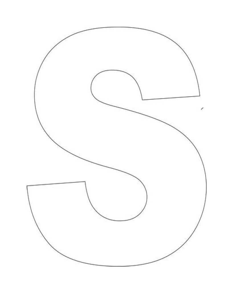 Trace Letter S Blank