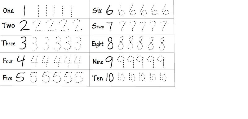 Trace Number Worksheets Fun