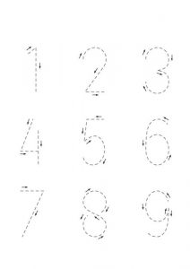 Trace the numbers preschool