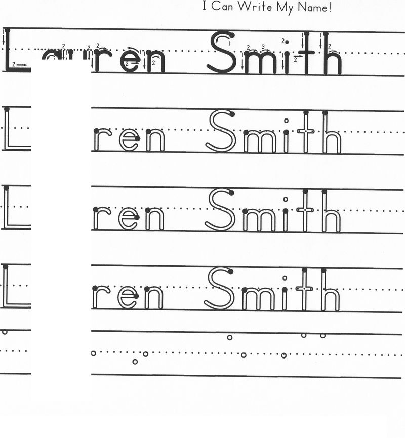 Trace Your Name Worksheet Own Name   Coloring Sheets
