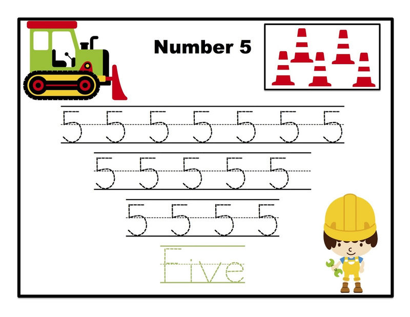 Traceable Numbers Five 5
