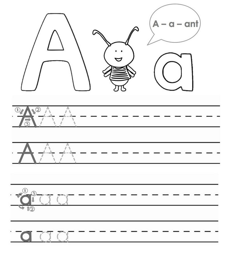 Tracing A B C For Kids