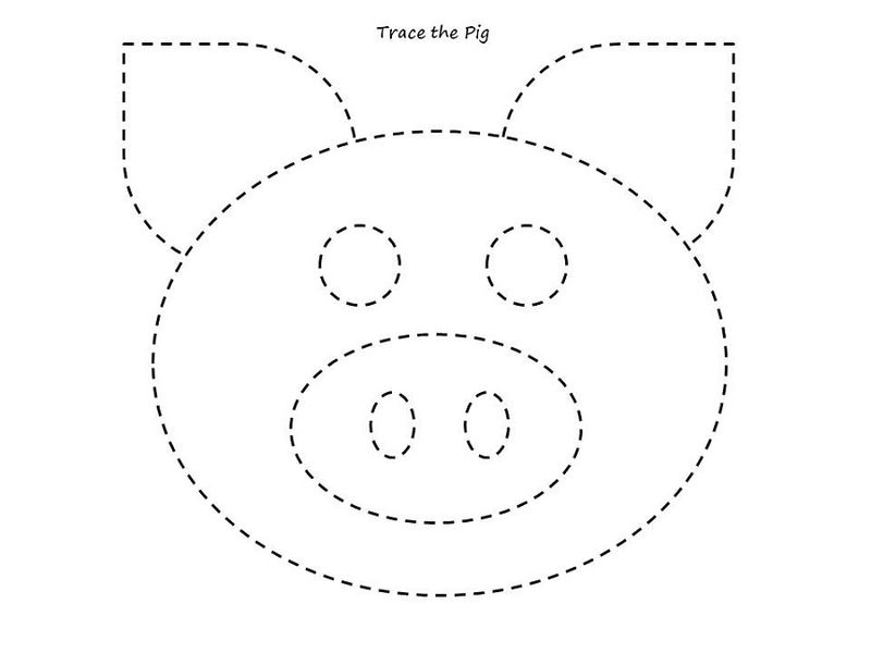 Tracing Activities Animal Pig