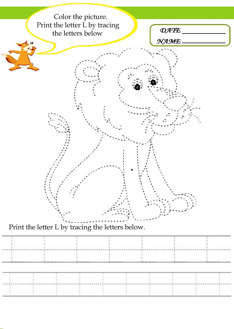 Tracing Activities Free For Kids
