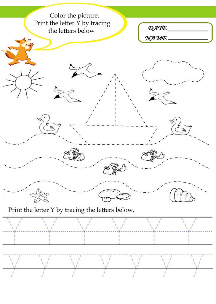 Tracing Activities Letter Y For Kids