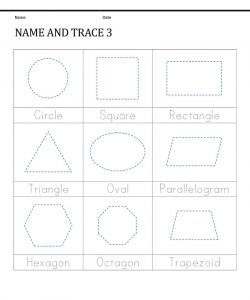 Tracing activities shape for kindergarten