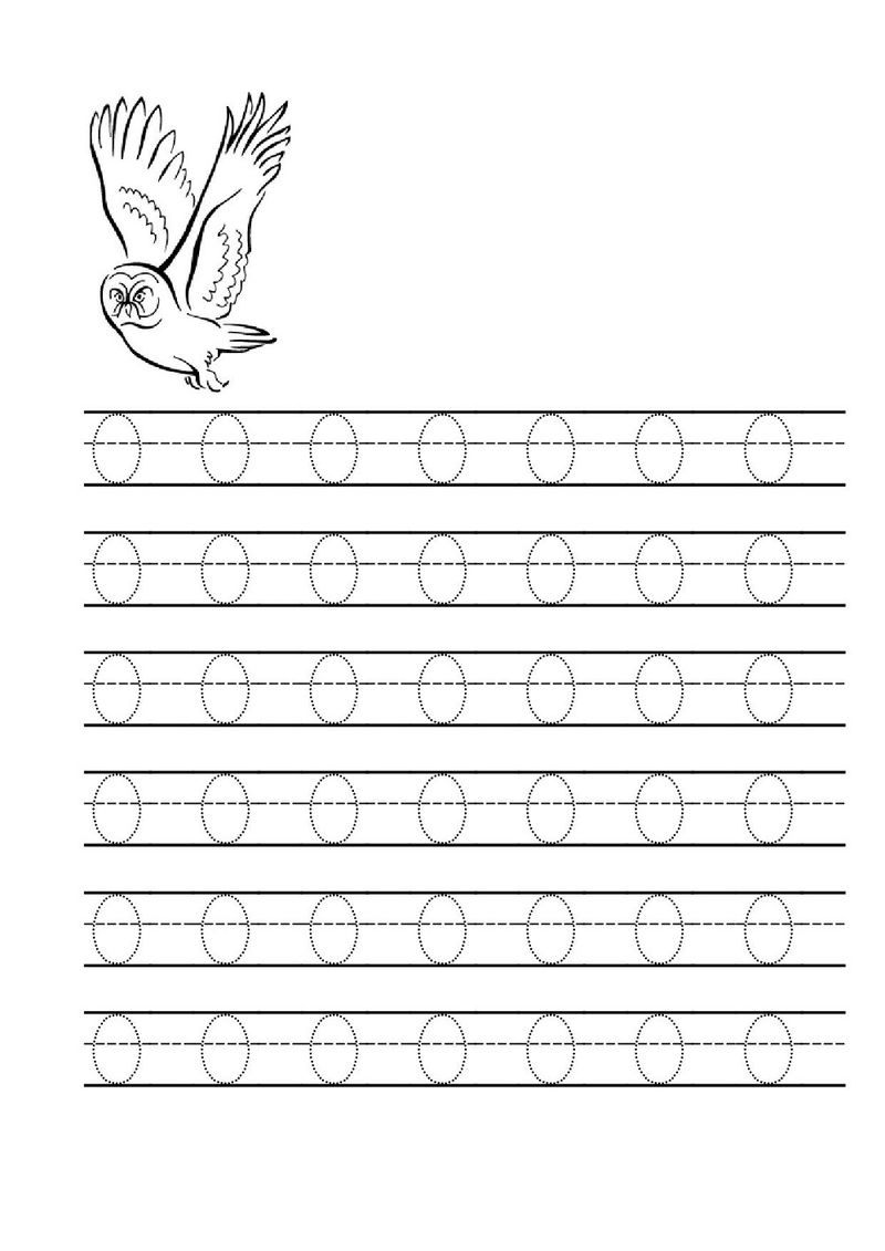 Tracing Letter O Worksheets Practice