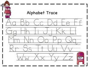 Tracing letters for girl 001
