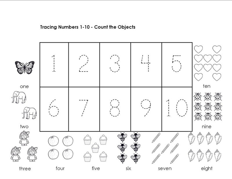 Tracing Numbers 1 10 Object