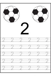 Tracing numbers 1 5 two balls 001