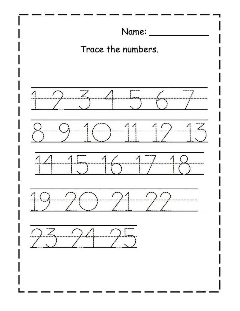 Tracing Numbers For Kg Page