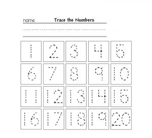 Tracing numbers for kg printable