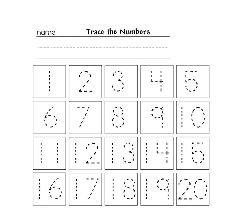 graphic about Printable Tracing Numbers titled Tracing Quantities For Kg Printable - Coloring Sheets