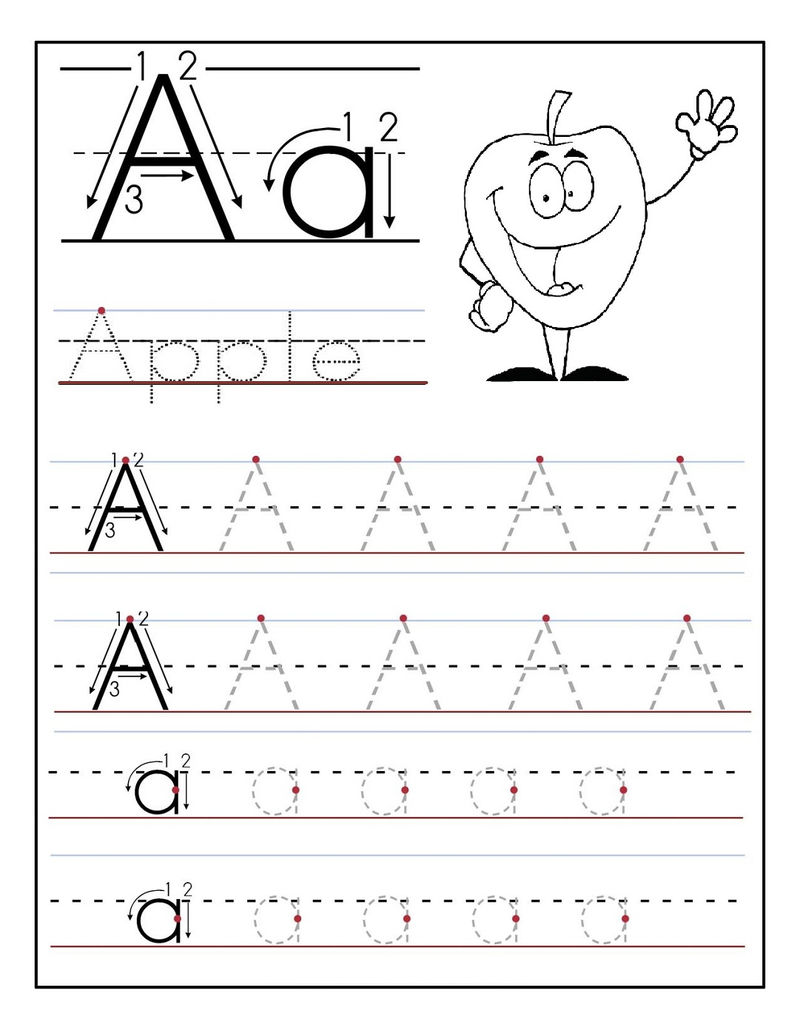 Tracing The Letter A Worksheets
