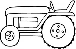 Tractor coloring pages for kids