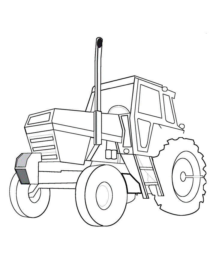 Tractor Coloring Pages To Print For Kids 001