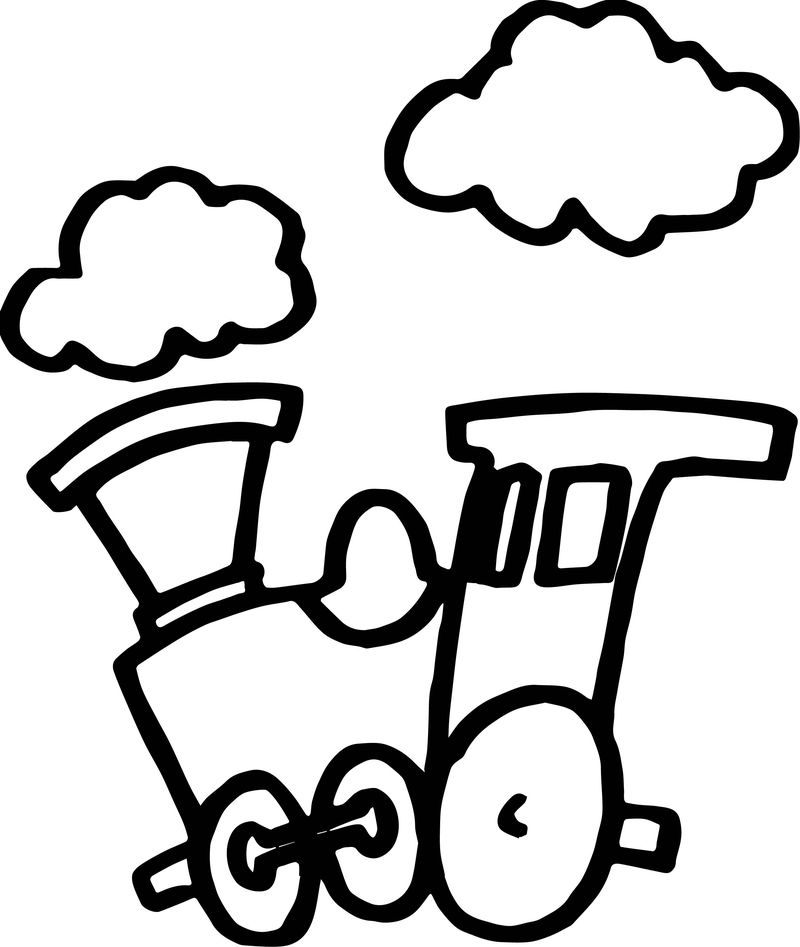 Train Cloud Coloring Page